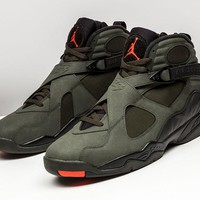 [Free Shipping ]Air Jordan 8 Retro Take Flight Sequoia Undefeated Olive 305381 305  Basketball Sneaker