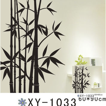 Black Leaf Wall Sticker Book Home Decor Removable PVC SM6