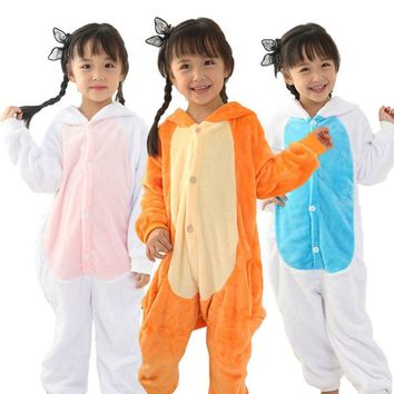 Pyjamas kids Unicornio Spiderman Minions Pikachu Stitch Hoodie Pajamas Set Cartoon Animal Cosplay Pijama