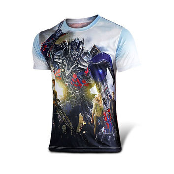 Marvel Comics Super Heroes Spiderman Superman Captain America Batman Iron Man Hulk Transformers Optimus Prime T Shirt Costume