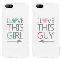 I Love This Girl & Guy Matching Couple White Phonecases (Set)