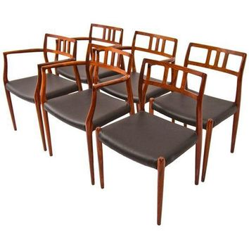Pre-owned Rosewood Niels Moller Chairs - Set of 6