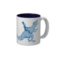 Abe Lincoln Riding A T-Rex Coffee Mug