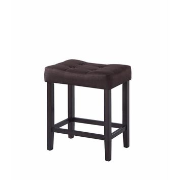 Backless Modern Counter Height Stool, Brown, Set of 2