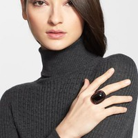 Women's St. John Collection Cocktail Ring - Malbec Clad/ Jet Stone