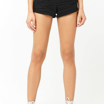 Cuffed Mid-Rise Shorts