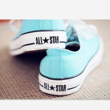 Converse All Star Sneakers canvas shoes for women sports shoes low-top light blue