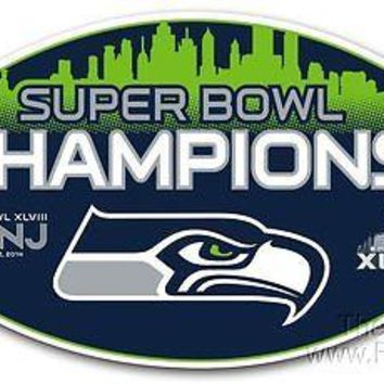 "Seattle Seahawks 2013 Super Bowl Champions 12"" Magnet Auto Home Football"