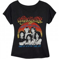 Aerosmith U.S. Tour '84 Girls Jr Soft tee - Rockabilia