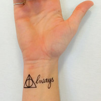 Harry Potter Always Temporary Tattoo Set
