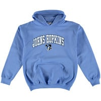 Johns Hopkins Blue Jays New Agenda Youth Midsize Pullover Hoodie - Columbia Blue