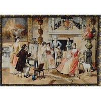 Tache 28 x 41 Inch Rococo English Picture Day Tapestry Wall Hanging With Hanging Loops (WH-15394)