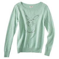 Mossimo Supply Co. Juniors Long Sleeve Bunny Sweater - Mint
