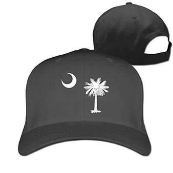 South Carolina State Flag Adjustable Men Women Fitted Cap Hat