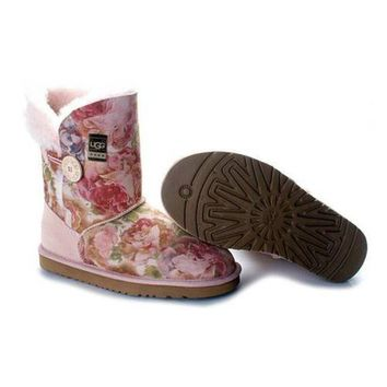 Gotopfashion Uggs Boots Cyber Monday Bailey Button Fancy 5809 Pink For Women 85 77