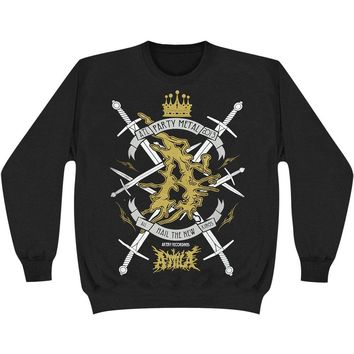 Attila Men's  Kings Sweatshirt Black Rockabilia