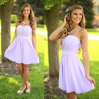 Shine Bright Dress in Lavender
