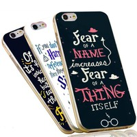 Soft TPU Slim Clear Silicone Cover for iPhone 5S 5 SE 5C 4 4S 6 6S 7 Plus Case Harry Potter Fear Quotes Phone Case