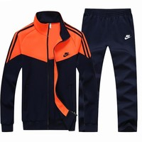 Nike Fashion Casual Cardigan Jacket Coat Pants Trousers Set Two-Piece-6