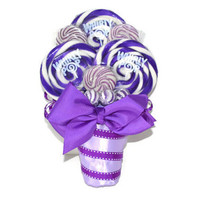 Purple Lollipop Bouquet, Purple Candy Bouquet, Bridesmaid Bouquet, Maid of Honor Bouquet, Lollipop Bouquet, Lollipop Wedding Bouquet, Candy