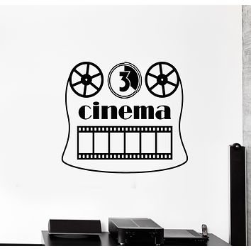 Vinyl Wall Decal Cinema Room Strip Fan Film Movie Theatre Art Stickers Mural (g931)
