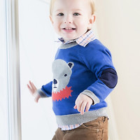 Egg Boys Circus Bear Crew Neck Sweater - W4CK3917 - FINAL SALE