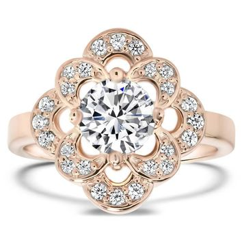 Forever One Engagement Ring Diamond Setting - Zoey