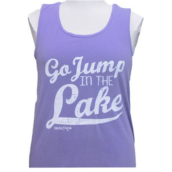 Girlie Girl Originals Jump In The Lake Bright Violet Puple Tank Top