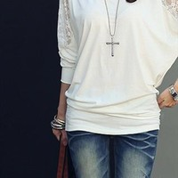 Lace blouse bat sleeve from Moonlightgirl