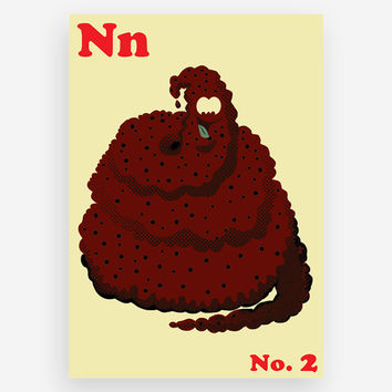 N is for No. 2 Print
