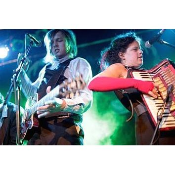 Arcade Fire poster Metal Sign Wall Art 8in x 12in