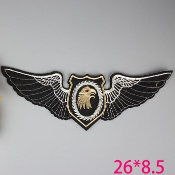 fashion big new wing eagle goldIron On Embroidered Patch For Cloth Cartoon Badge Garment Appliques  Accessory