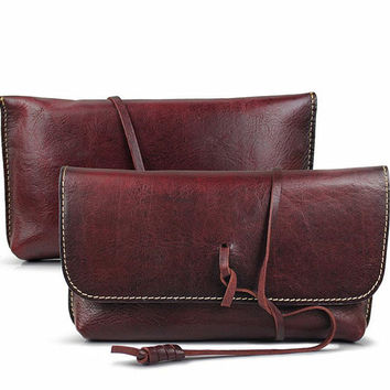 Wine Red Women Clutch, Personalized Leather Wallet, Phone Case Monogram, Leather Bag, Bridesmaid Gift For Her, 542