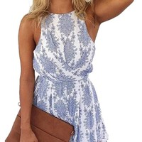 Women Sexy Strap Backless Summer Beach Party Romper Jumpsuit