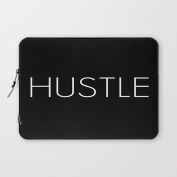 HUSTLE Laptop Sleeve by cornellhawkins