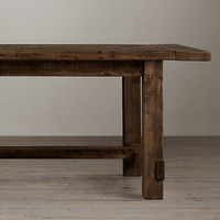 Farmhouse Salvaged Wood Rectangular Extension Tables Salvaged