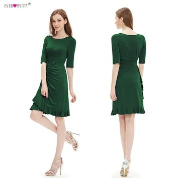 Ever Pretty Cocktail Dresses Knee Length Half Sleeve Short  Causal Prom Party Dress 2018 Special Occasion Dresses Vestido Coctel