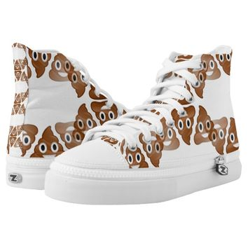 poop emoji sneakers shoes printed shoes