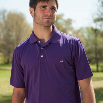 The Bermuda Performance Polo - Solid - Collegiate - LSU