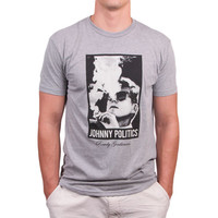 Johnny Politics Short Sleeve Vintage Tee in Heathered Grey by Rowdy Gentleman