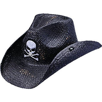 Peter Grimm Ltd Unisex Keith Straw Cowboy Hat Black One Size