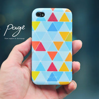 Apple iphone case for iphone iphone 4 iphone 4s iphone 3Gs : Colorful triangle pattern