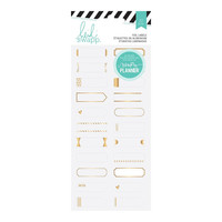 Heidi Swapp: 22 Piece Metallic Gold Foil Labels, for Hello Beautiful Memory Planner