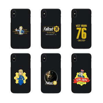 fallout 76 soft Silicone black cover phone case for iPhone X XR Max 6 7 8 plus 5 5s 6s se for Apple XS best design Housing