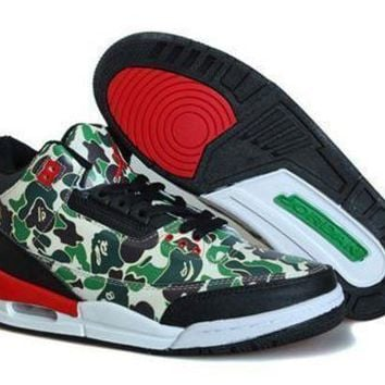 Cheap Air Jordan 3 Retro Men Shoes Hero Camouflage Green
