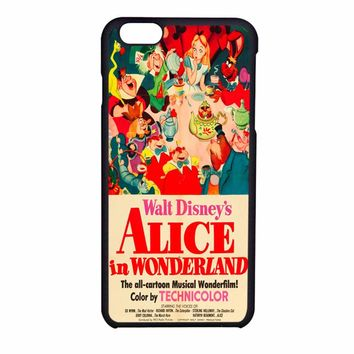 Old Disney Posters Alice In Wonderland iPhone 6 Case