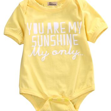 Newborn Infant Baby Boy Girl Cotton Onesuit - Free Shipping