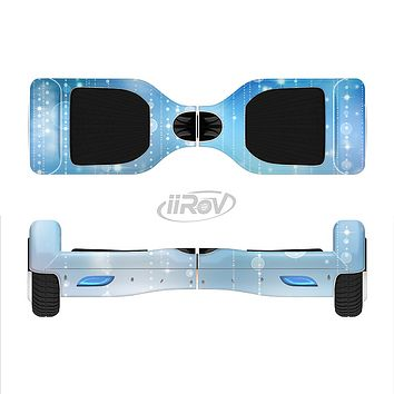 The Translucent Blue & White Jewels Full-Body Skin Set for the Smart Drifting SuperCharged iiRov HoverBoard