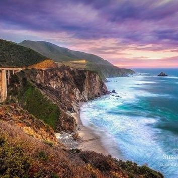 Big Sur Print, Bixby Bridge Photo, California Coast Art, Pacific Coast, Seascape Art, Carmel, Monterey, Rocky, Fine Art, Large Bridge Print