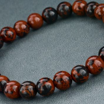 Red and Black Volcano Stone Fashion Bracelet